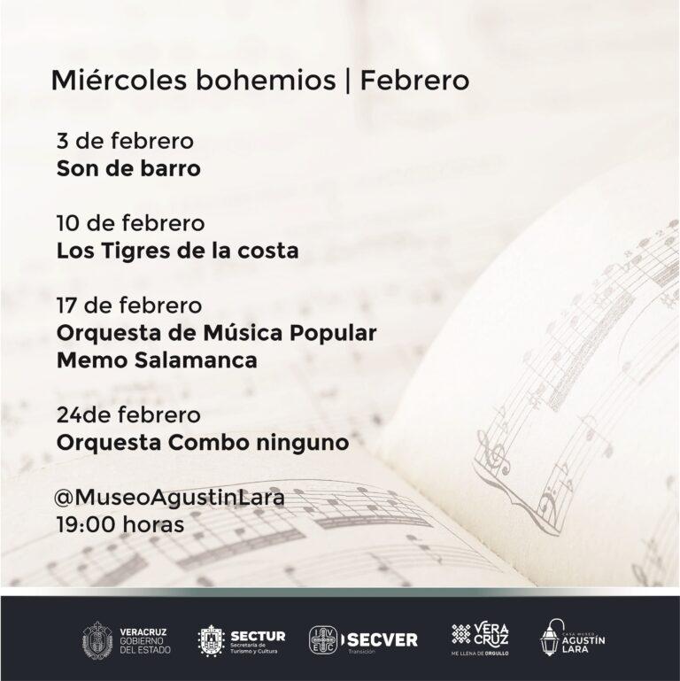 Invita IVEC a escuchar a músicos veracruzanos en Miércoles bohemios