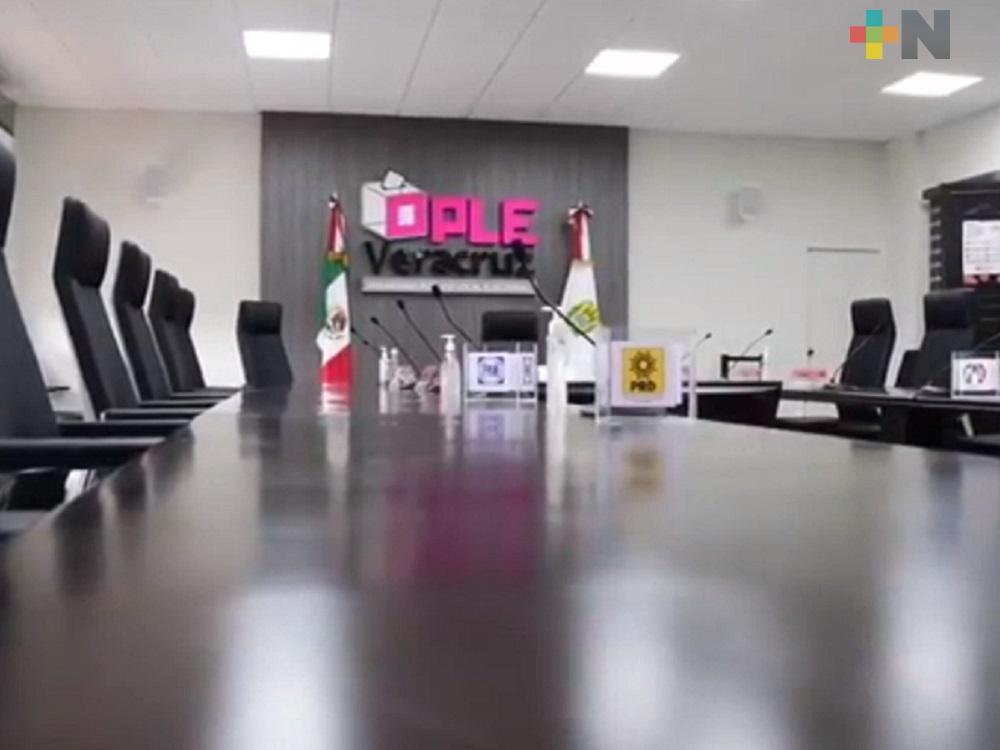 Aprobó OPLE Veracruz lista de aspirantes a presentar exámenes para ocupar cargos en dicho instituto