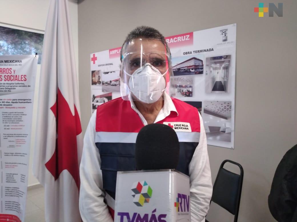 Cruz Roja delegación Veracruz no suspende servicios, a pesar de déficit de recursos económicos