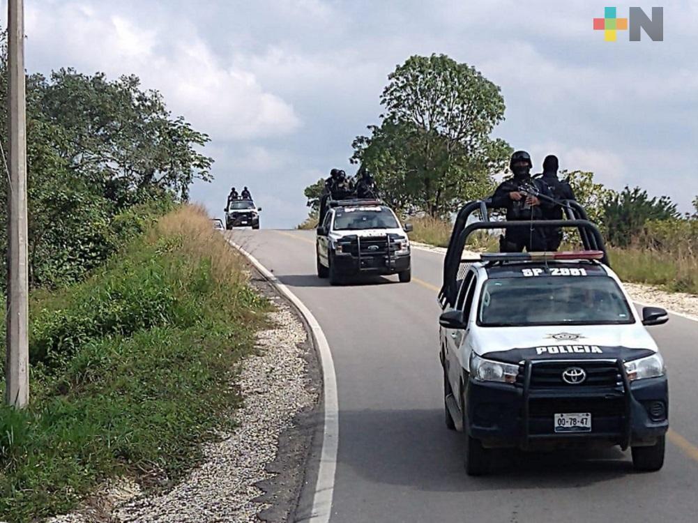 Para reforzar seguridad en Las Choapas, despliegan más de 300 elementos de fuerzas de seguridad