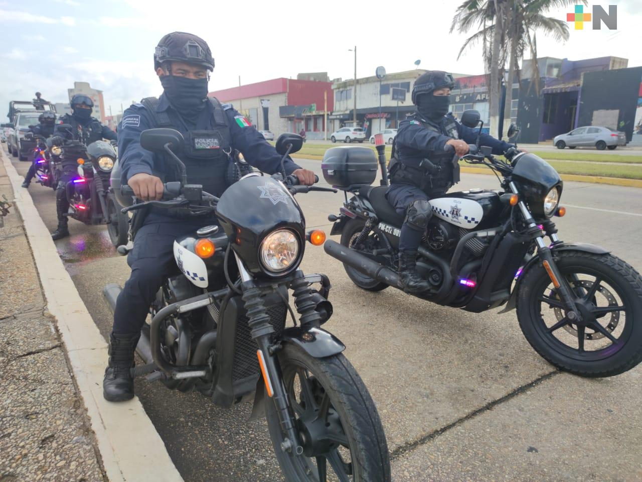 Inició operativo de seguridad en el malecón costero de Coatzacoalcos