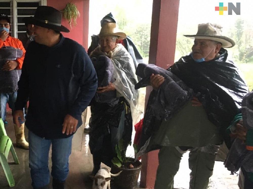 Realizan acciones preventivas en zonas altas de San Andrés Tuxtla por bajas temperaturas