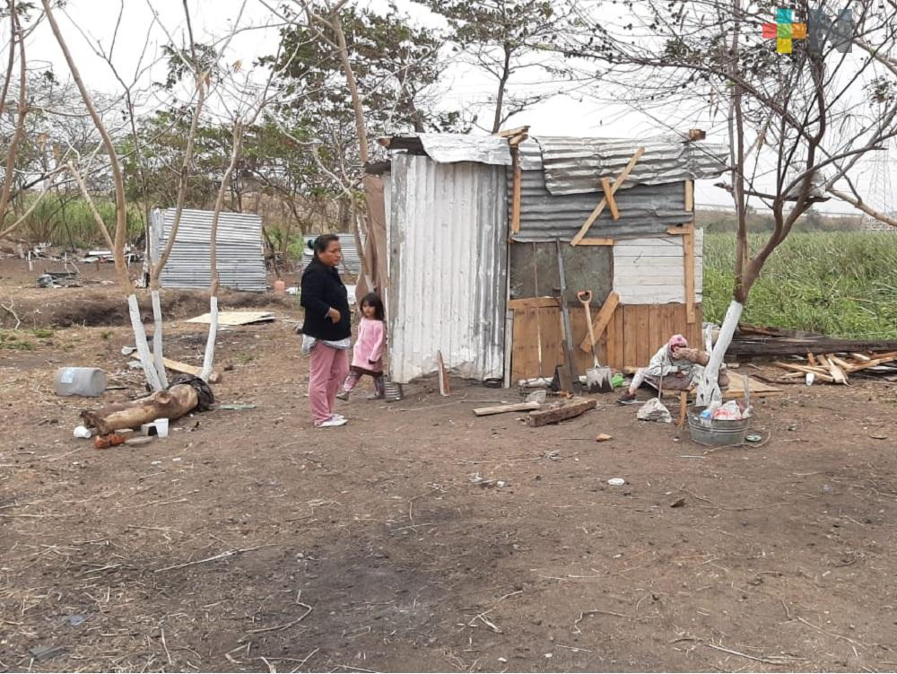 Regresan familias a invadir área natural protegida del municipio de Veracruz
