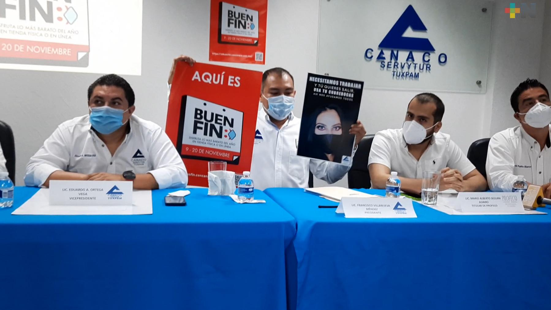 CANACO continúa promoviendo uso de cubrebocas en Tuxpan