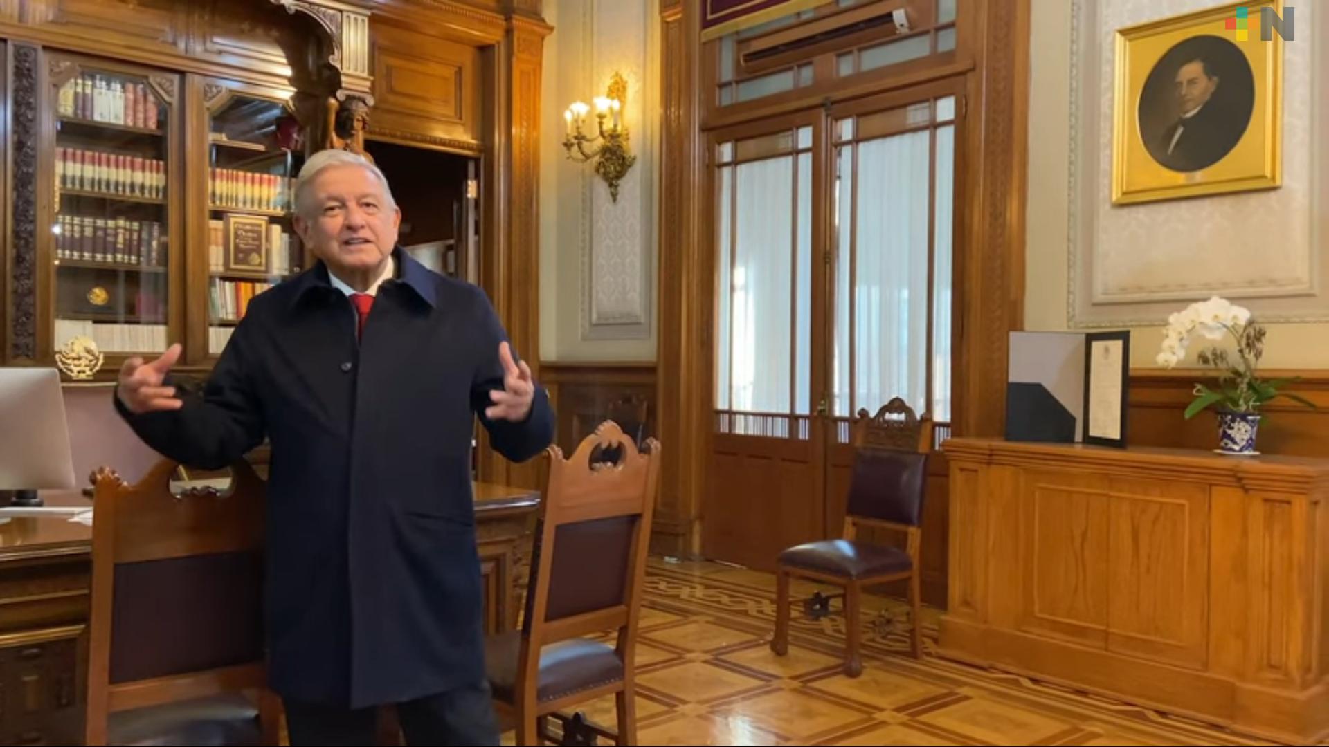 «No nos rendimos, tenemos que tener mucha fe en el porvenir» dice el presidente López Obrador al pueblo de México