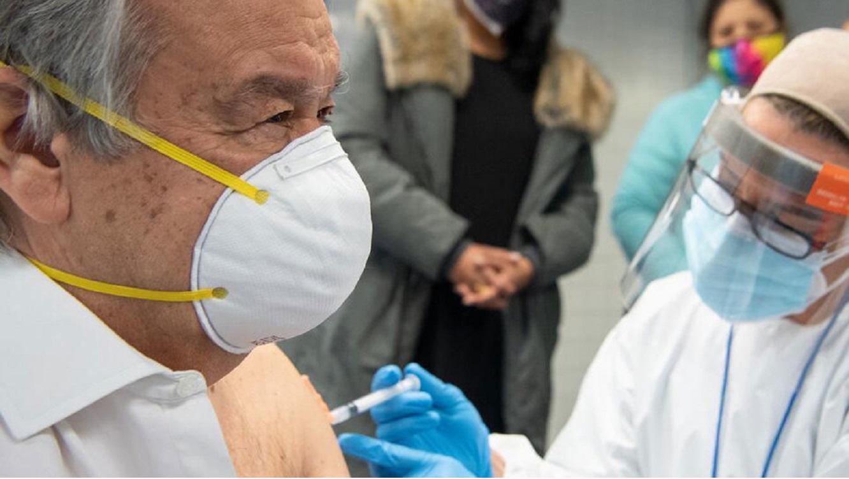 Secretario General de la ONU recibe en Nueva York primera dosis de vacuna contra COVID-19