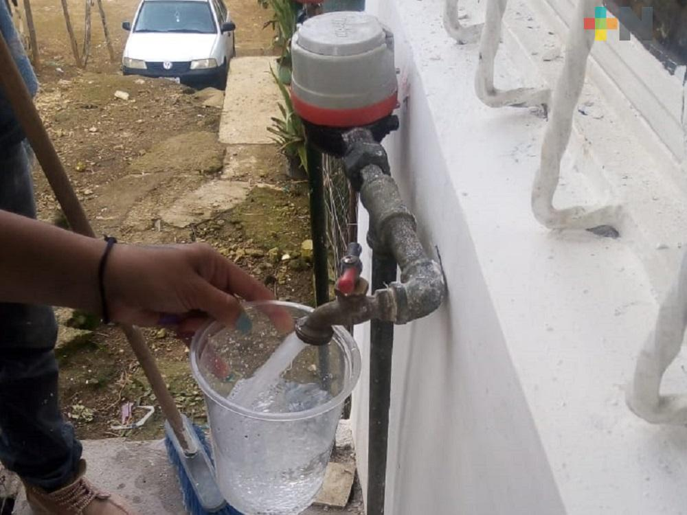Servicio de agua será reactivado de manera gradual en colonias de Xalapa
