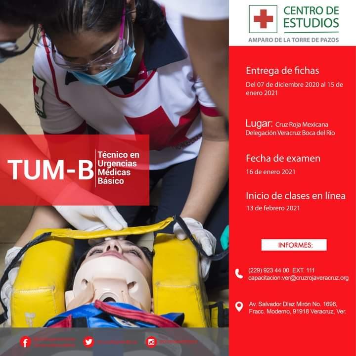 A punto de cerrar convocatoria para Técnico en Urgencias Médicas de la Cruz Roja delegación Veracruz