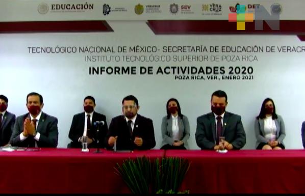 Secretario de Educación presente de manera virtual en informe del Tecnológico de Poza Rica