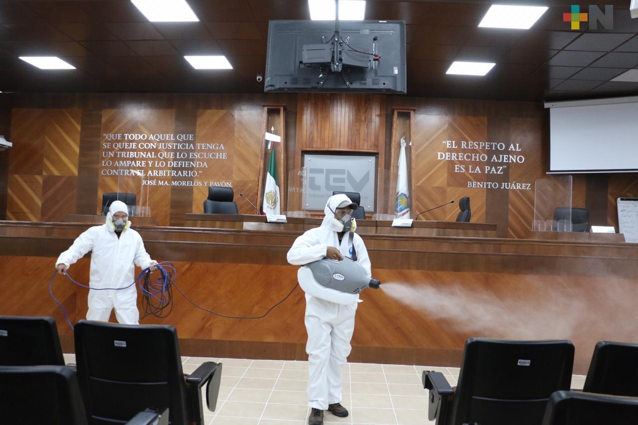 Tribunal Electoral de Veracruz refuerza acciones contra el COVID-19