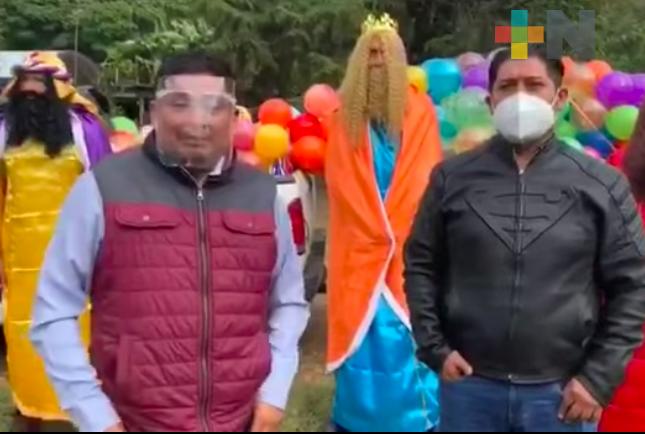 Realizó diputado Rubén Ríos entrega de juguetes en la Sierra del Gallego, en Córdoba