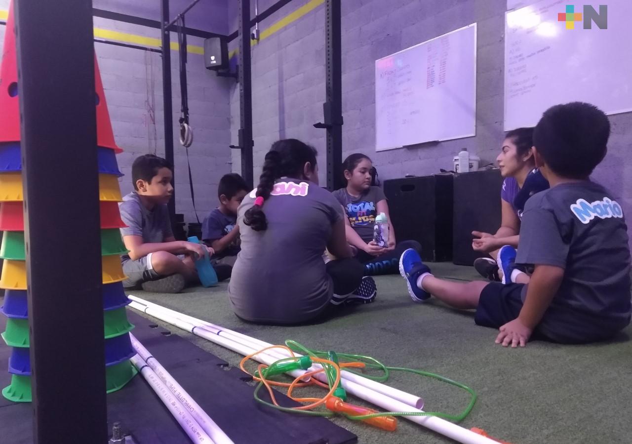 En Coatza, imparten Entrenamiento Funcional para niños