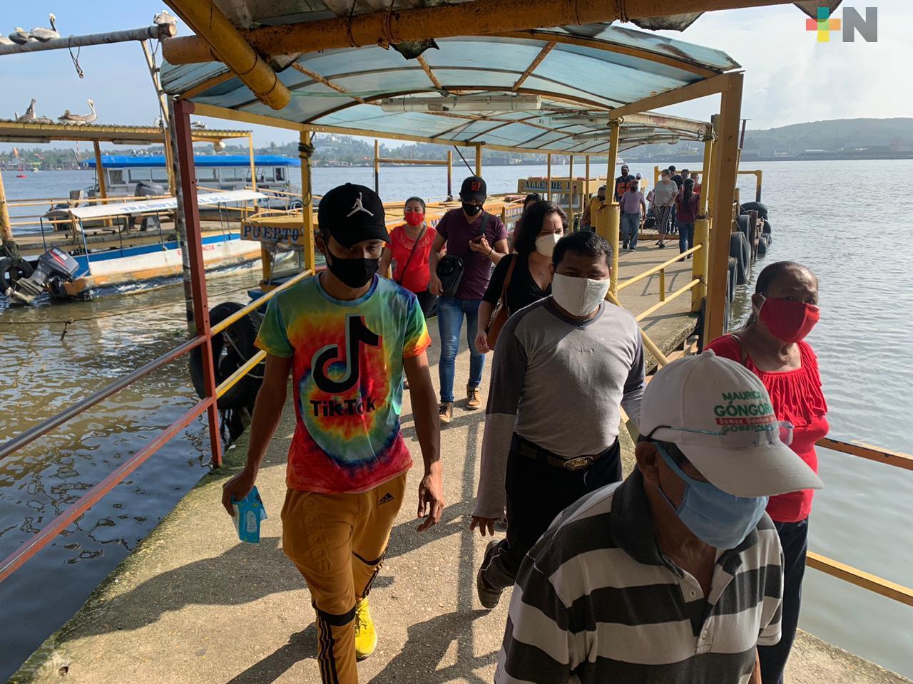 Entra en vigor nueva tarifa del servicio de lanchas entre Coatzacoalcos y Villa Allende