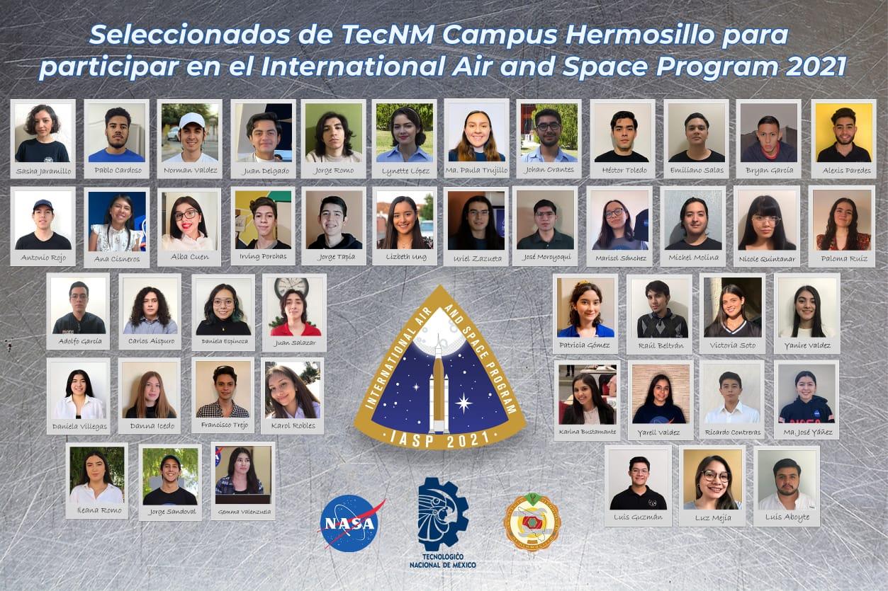 Seleccionan a 46 estudiantes del TecNM para cursos de entrenamiento y operaciones de la NASA