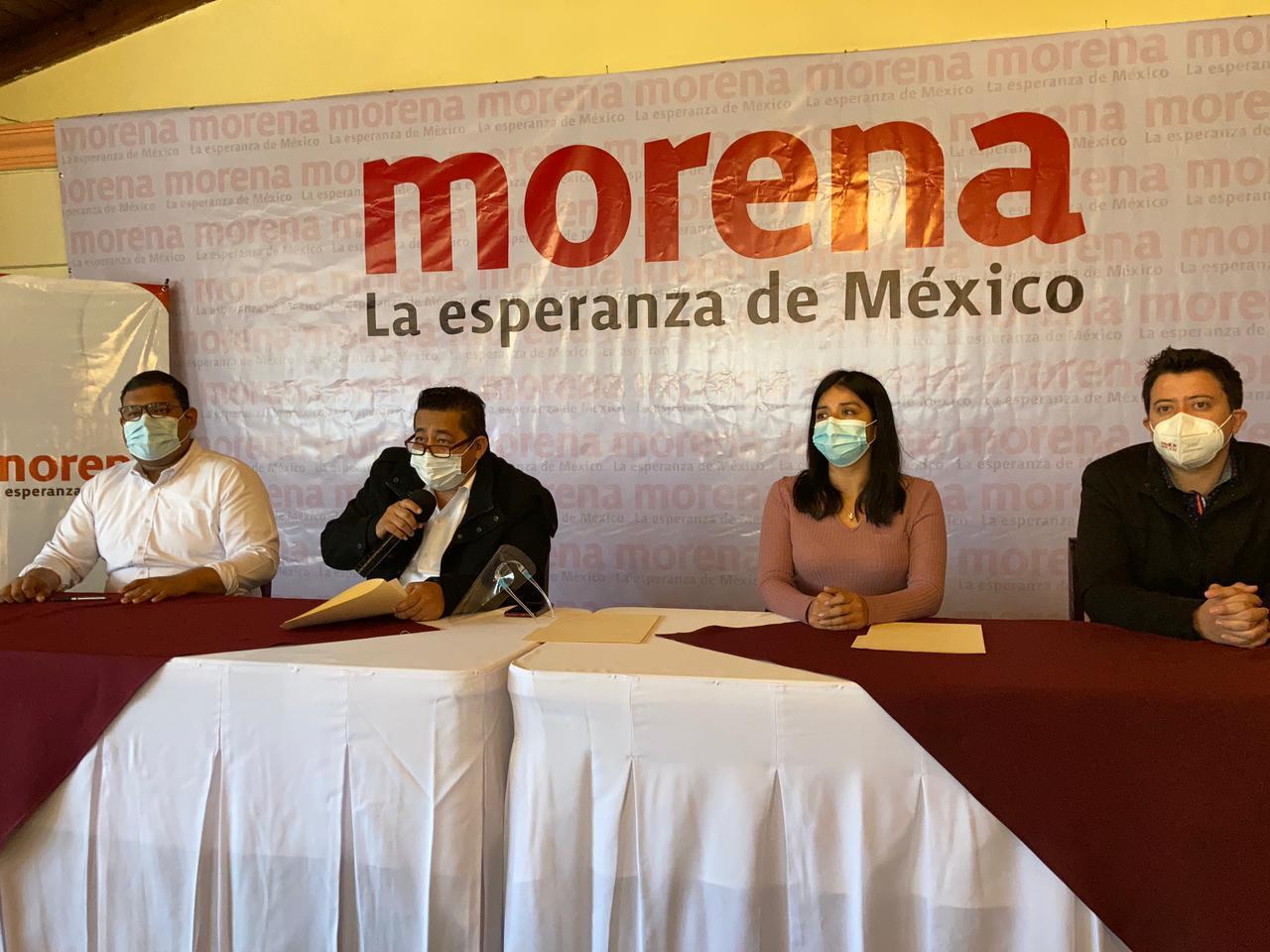 """Respaldan integrantes del CEE de Morena alianza """"Juntos hacemos historia»"""