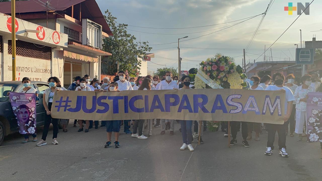 «Justicia para Sam», realizan marcha silenciosa en Jáltipan