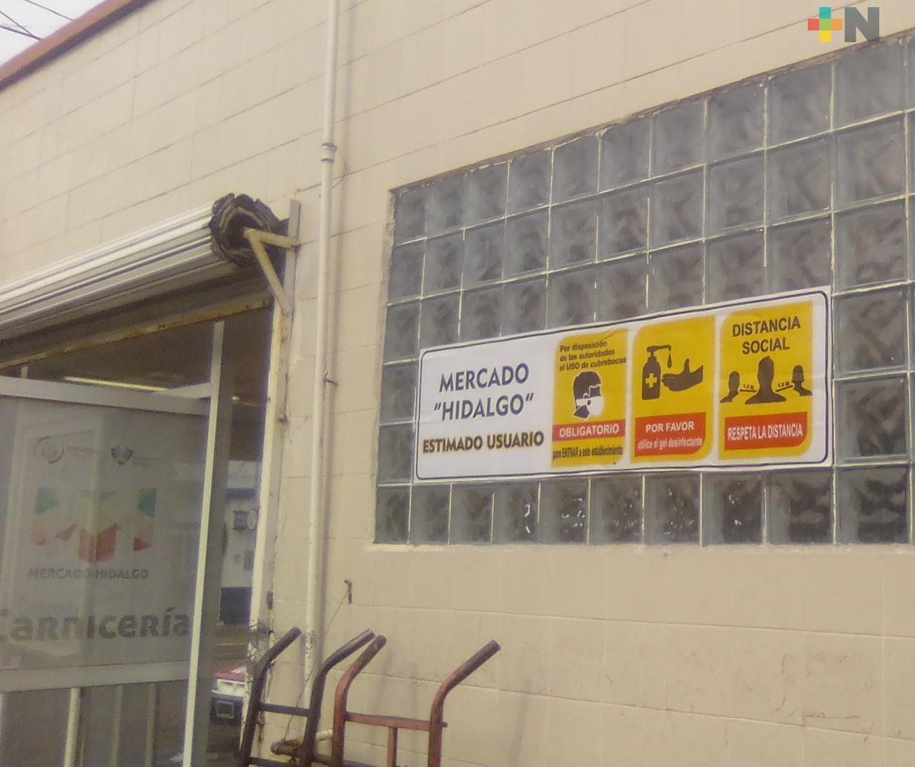 En mercado Hidalgo procuran mantener todas las medidas preventivas