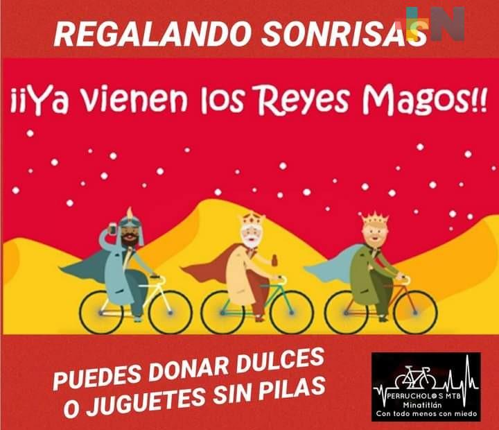 En Minatitlán, Reyes Magos llegarán en bici