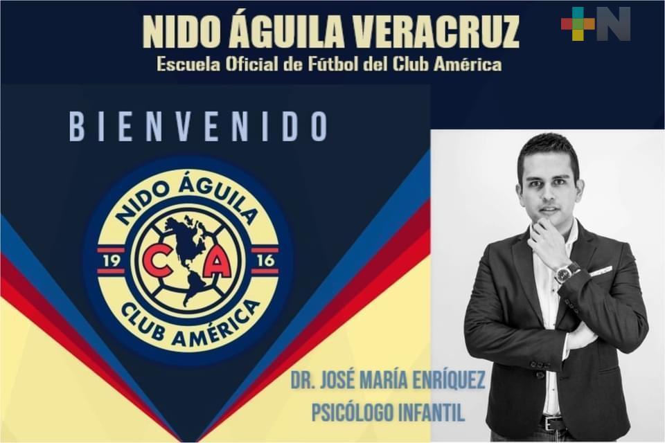 Nido Águila Veracruz suma psicólogo infantil, al equipo