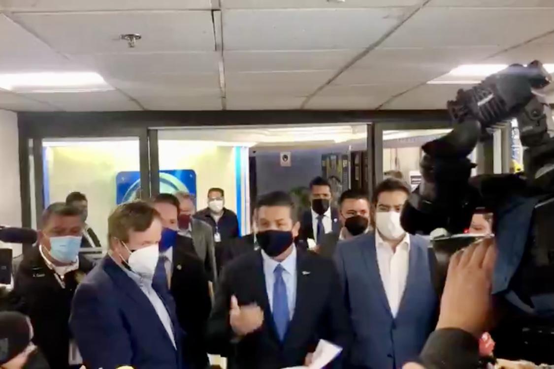 Gobernador de Tamaulipas  llegó a la Cámara de Diputados para que notifiquen acusaciones