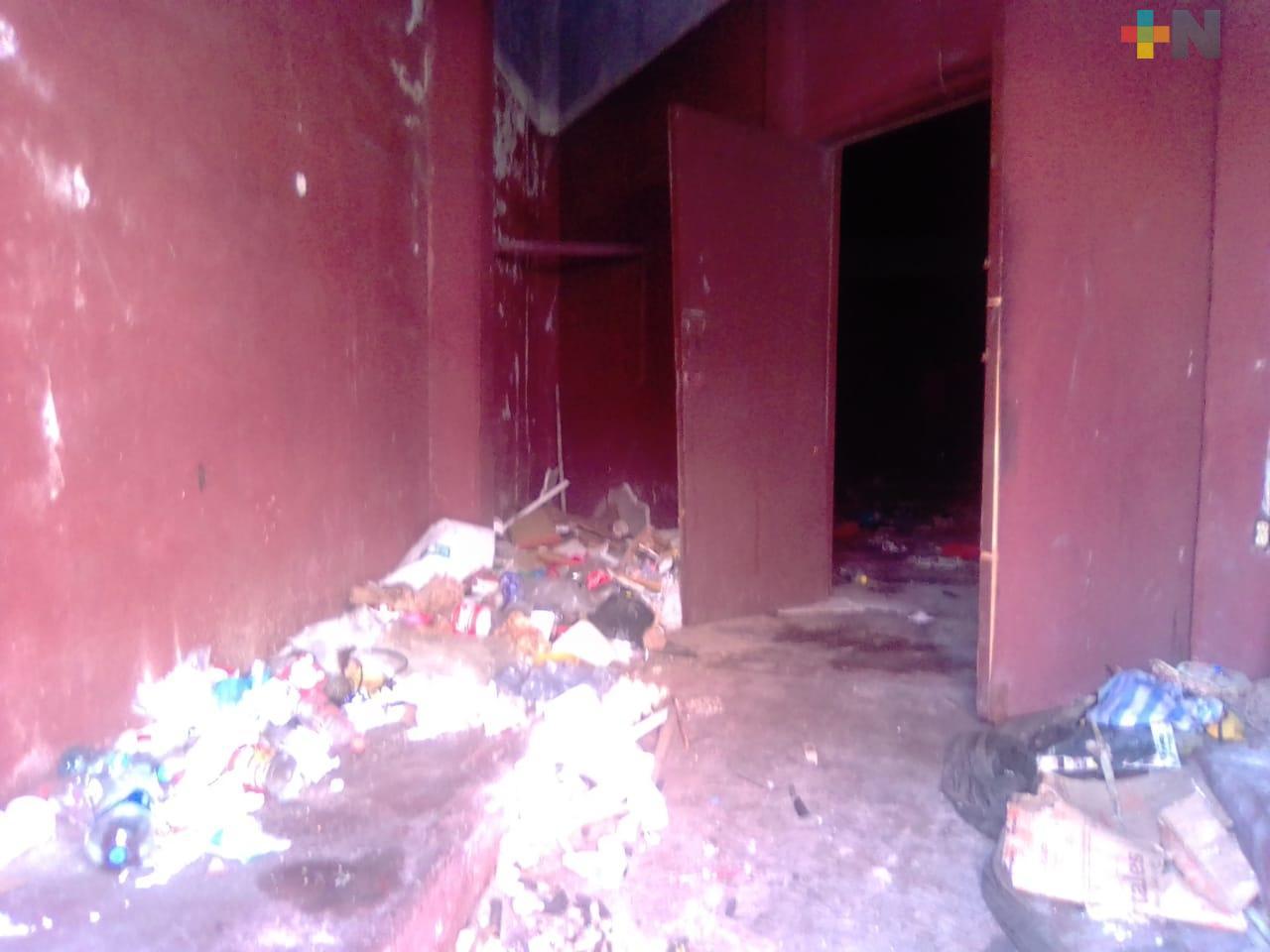 En abandono el Cine Luis Buñuel de la ciudad de Veracruz, piden mayor vigilancia en la zona