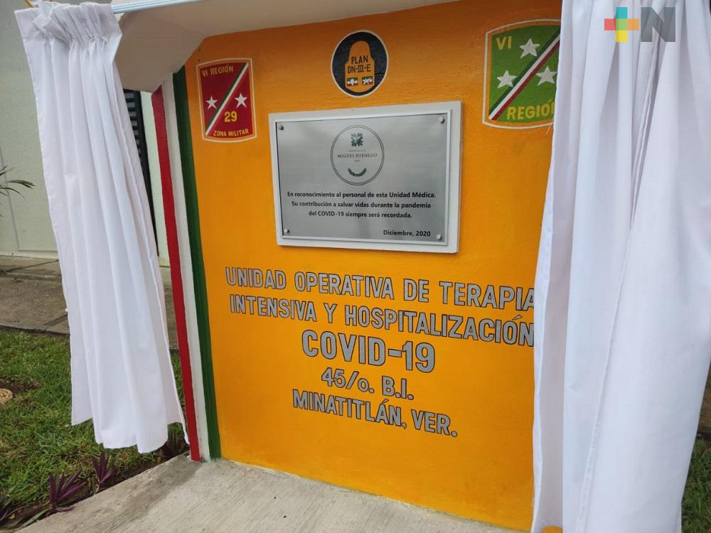 Por Día del Ejército, develaron placa en Batallón de Infantería con sede en Minatitlán