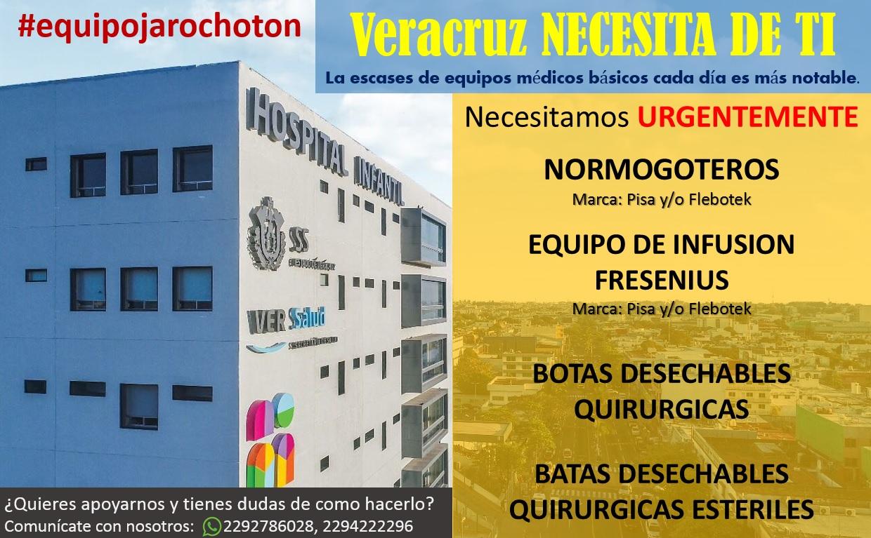 Piden donaciones en especie para el Hospital Infantil de Veracruz