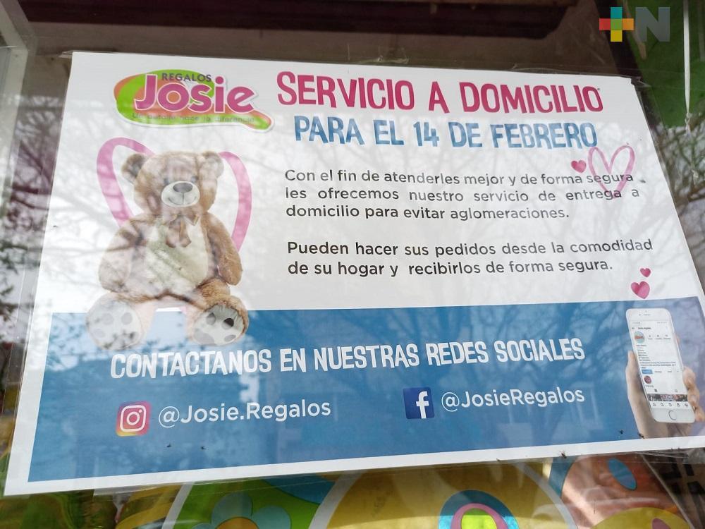 Comerciantes de Coatzacoalcos optan por venta en línea para el Día del Amor y la Amistad