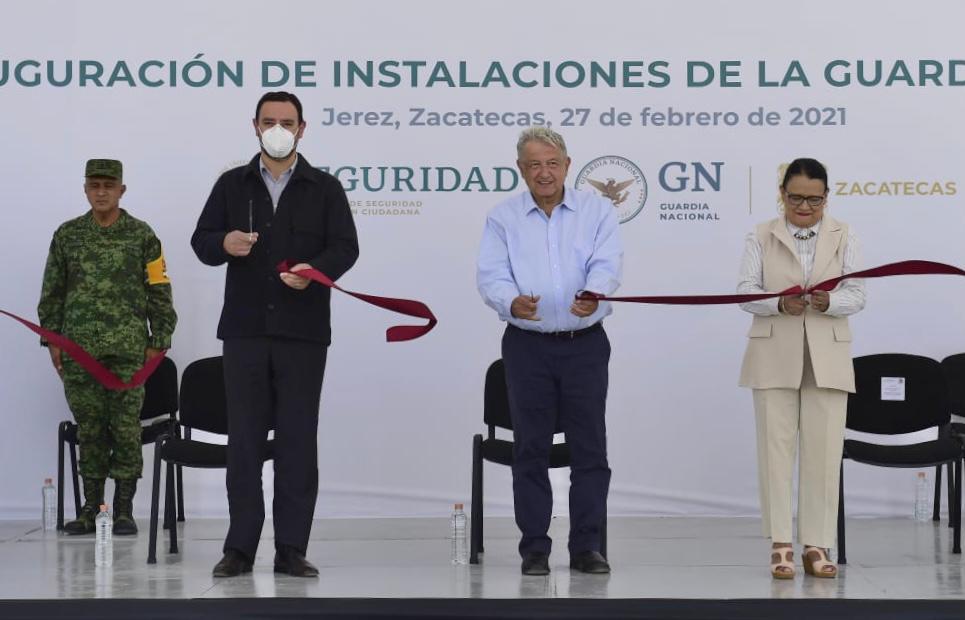 En Jerez, presidente inaugura instalaciones de la Guardia Nacional
