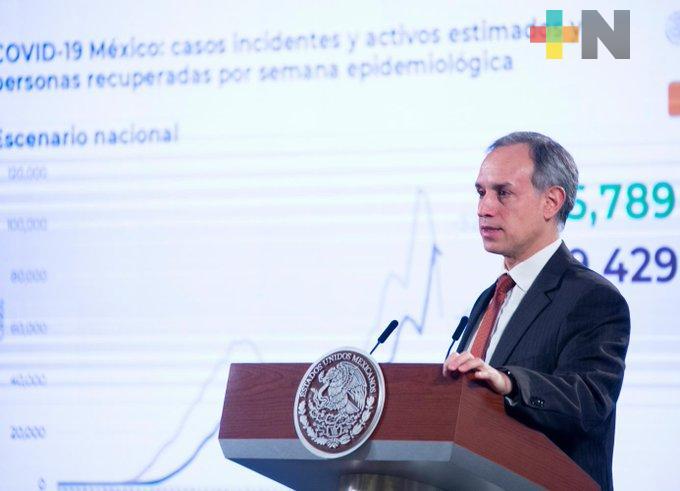Tenemos más personas vacunadas que casos de COVID-19 activos: López Gatell
