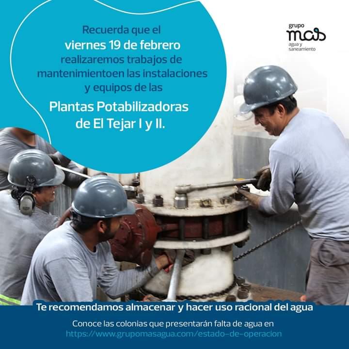 Piden almacenar agua en Veracruz y Medellín; darán mantenimiento a plantas potabilizadoras