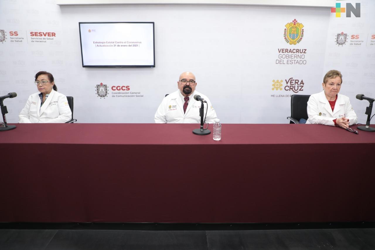 Se registran 216 casos nuevos de COVID-19 en Veracruz