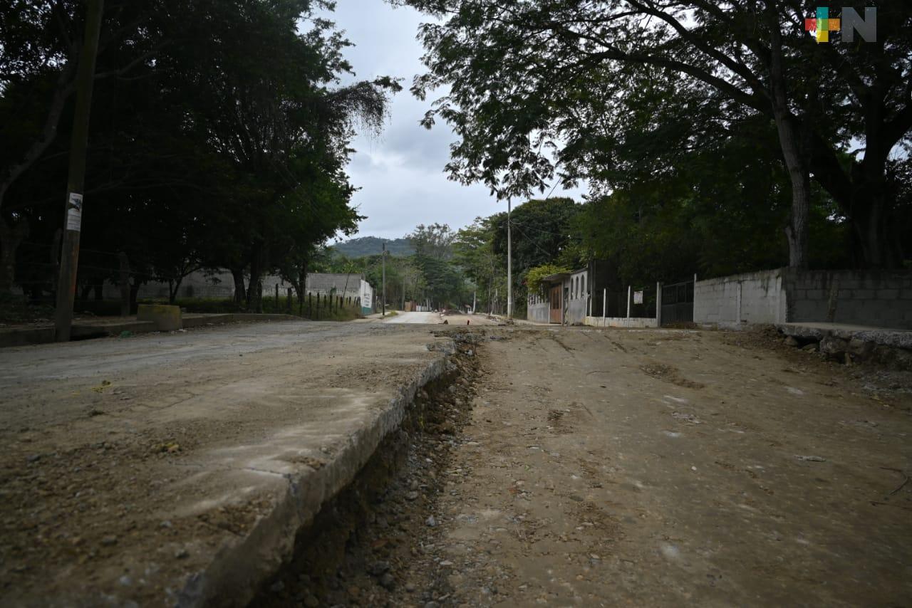 Obras siguen beneficiando a pobladores de Chalma