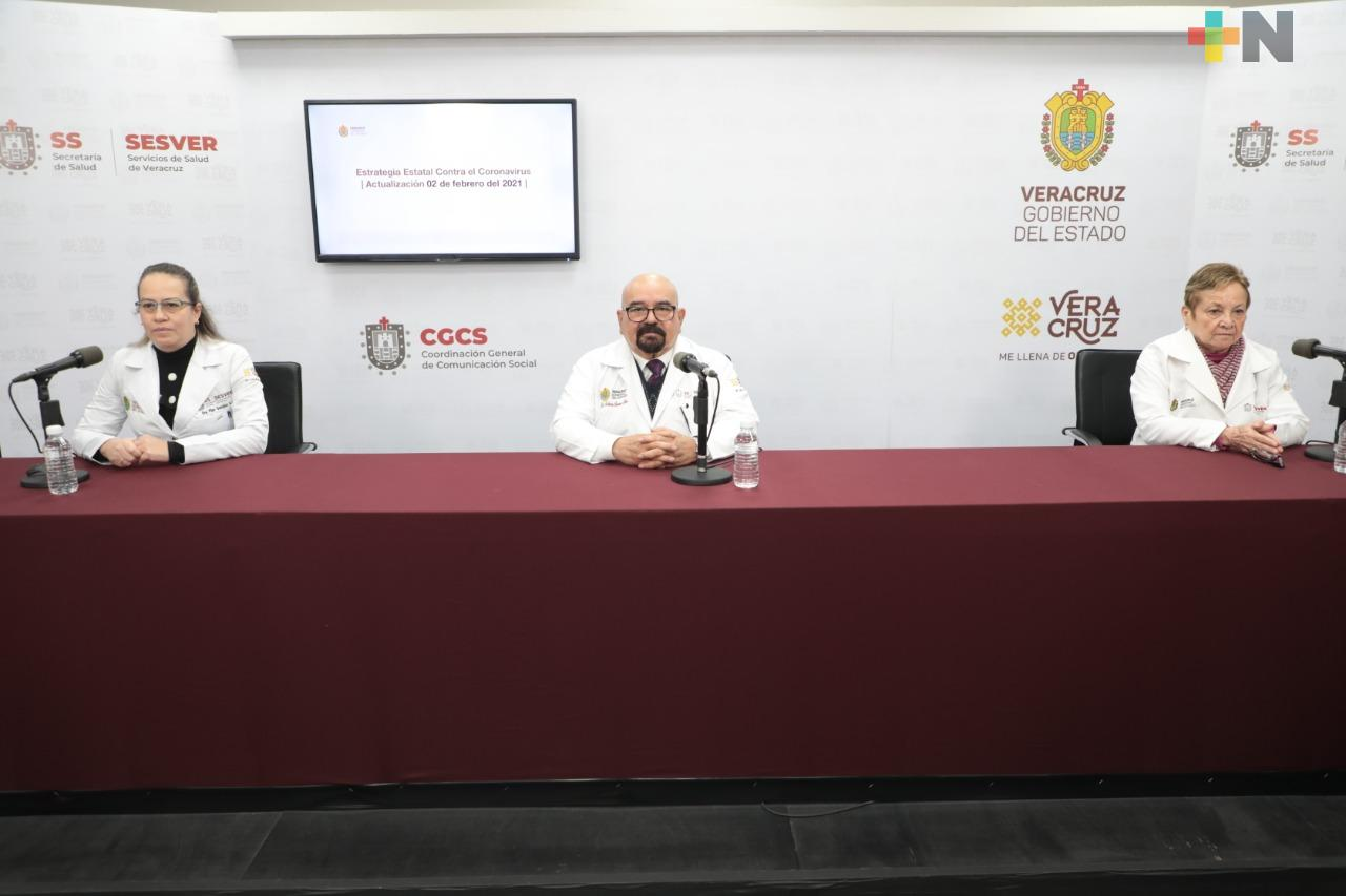 Se registran 123 casos nuevos de COVID-19 en Veracruz