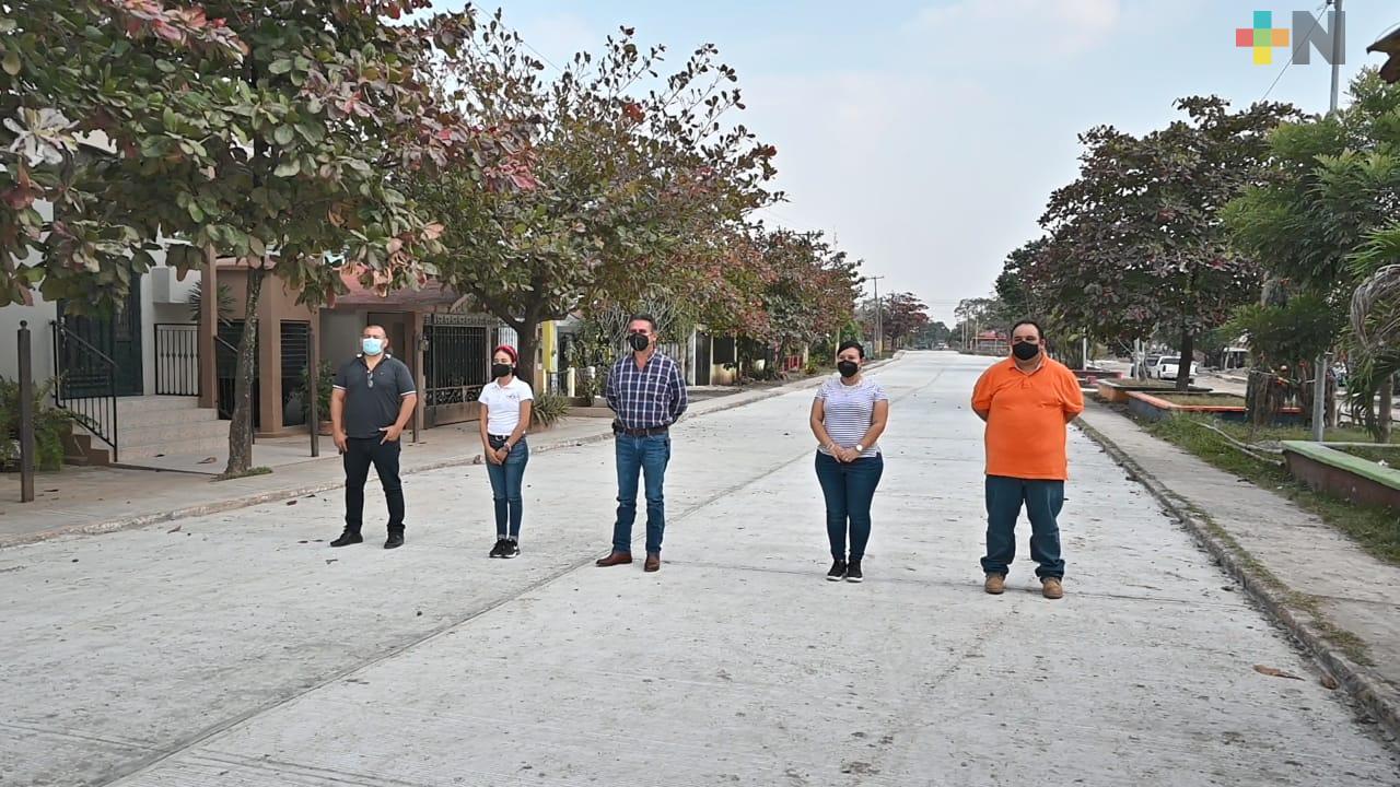 Continúan las obras públicas en Tempoal