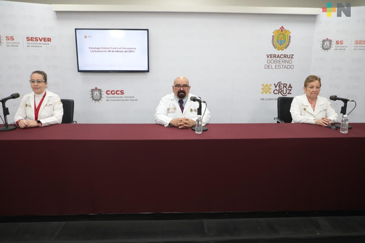 Registra Salud 124 casos nuevos de COVID-19 en Veracruz