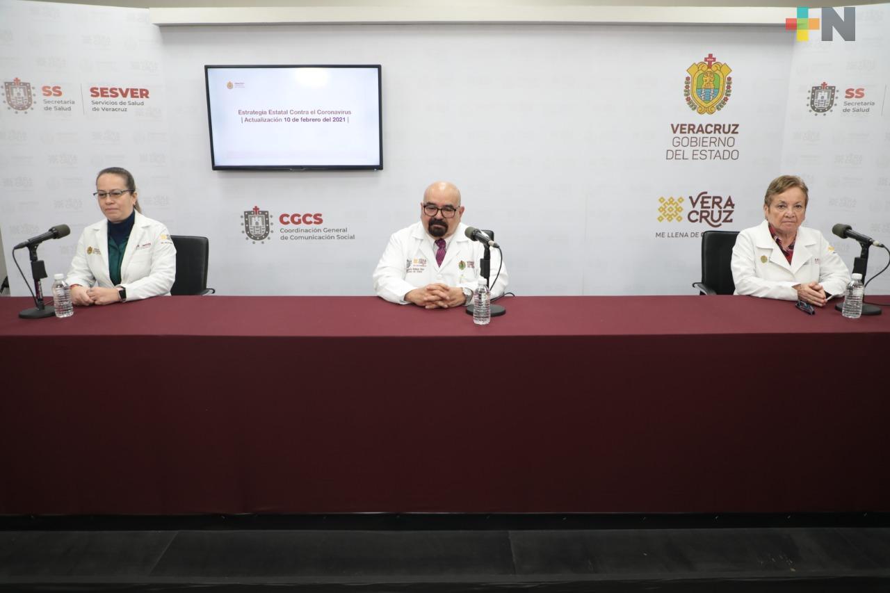 Se registran 72 casos nuevos de COVID-19 en Veracruz