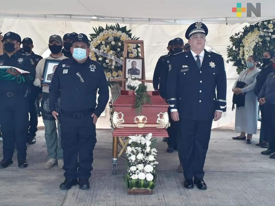 Con honores despide SSP a policías caídos en Orizaba