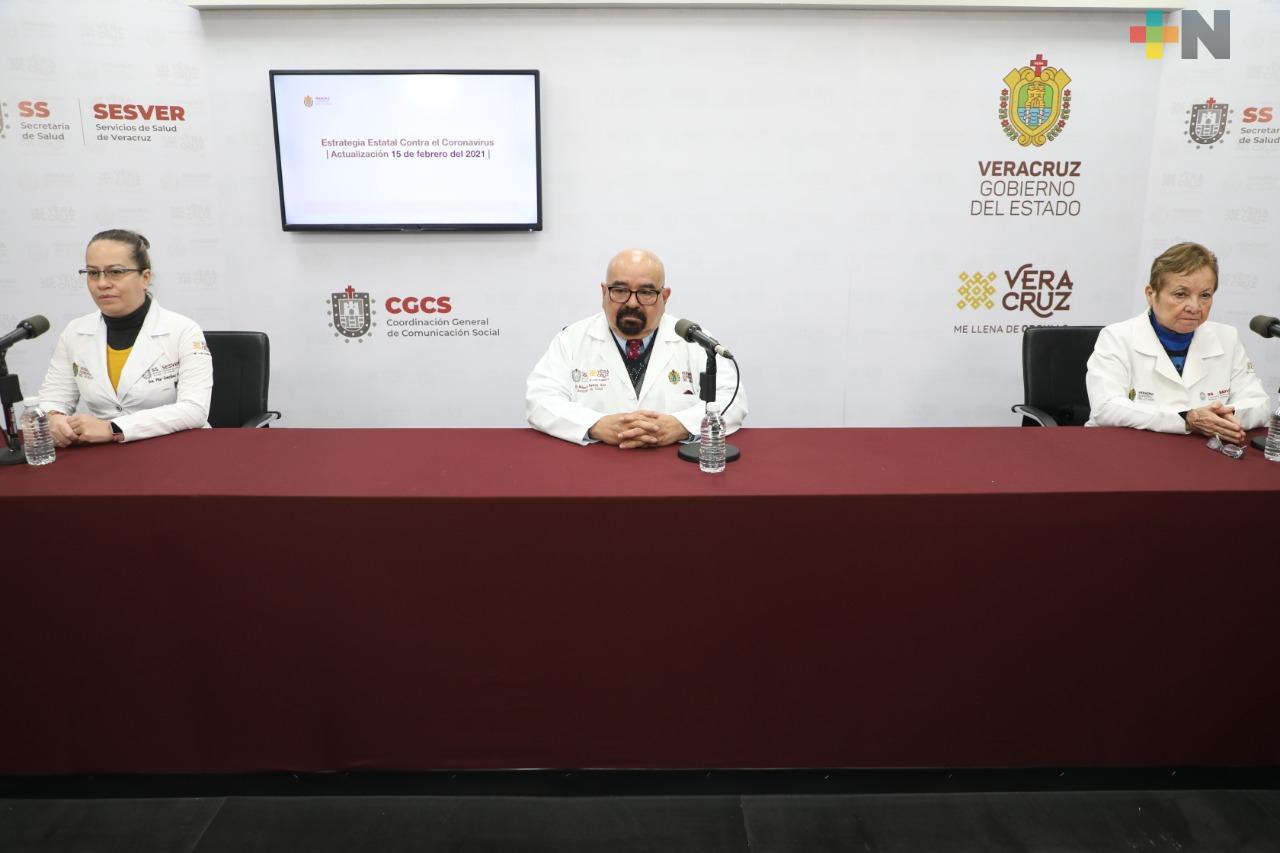 Se registran 196 casos nuevos de COVID-19 en Veracruz