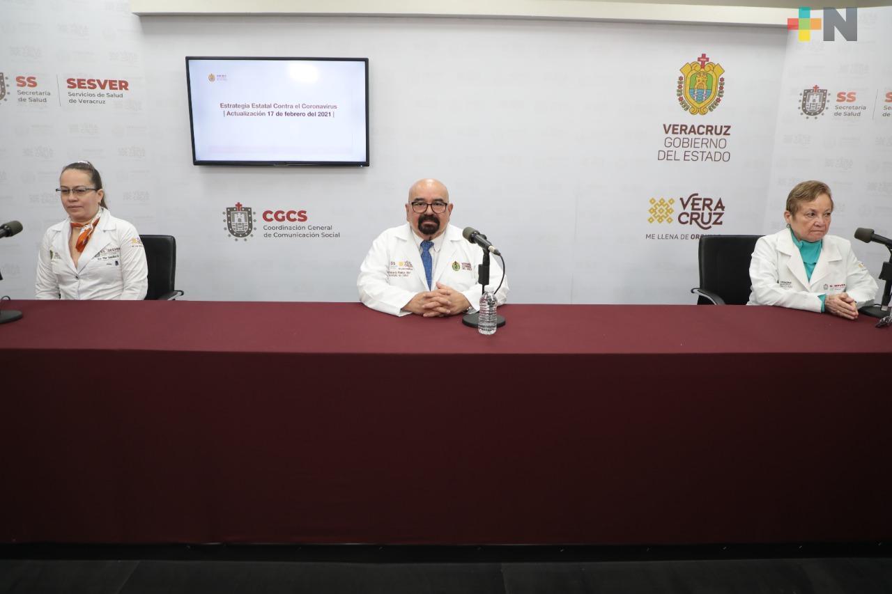 Se registran 114 casos nuevos de COVID-19 en Veracruz