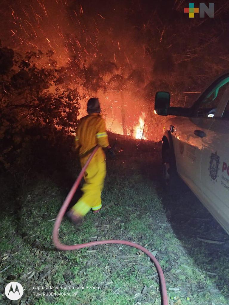 Incendio forestal en Tatatila está controlado en un 90%