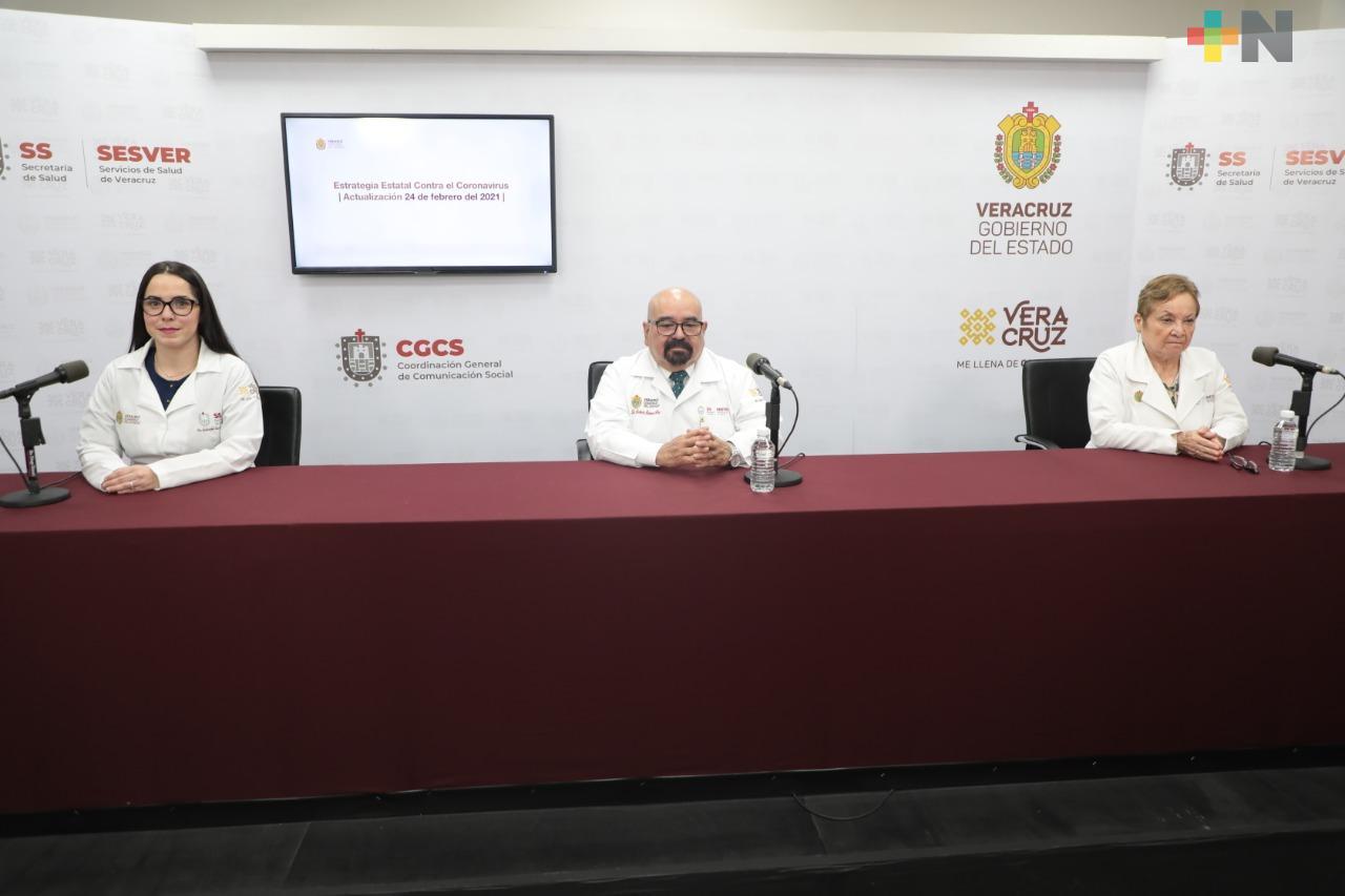 Se registran 111 casos nuevos de COVID-19 en Veracruz