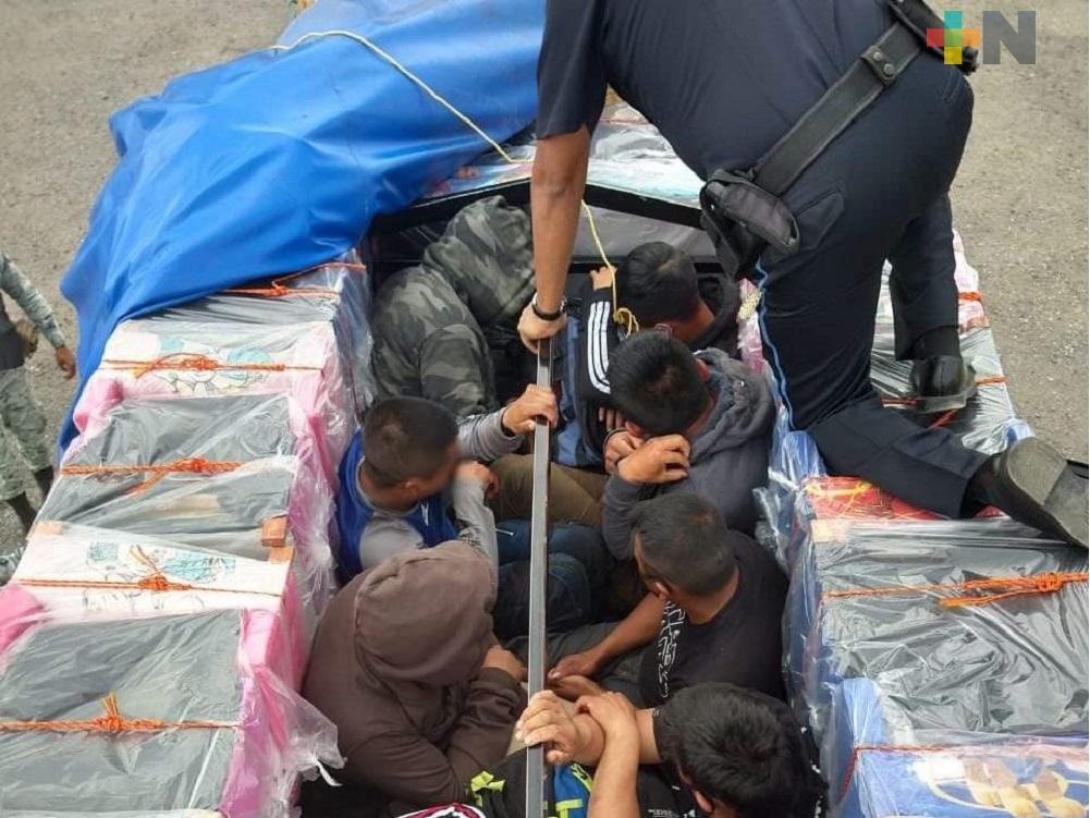 INM rescata 12 migrantes procedentes de Guatemala