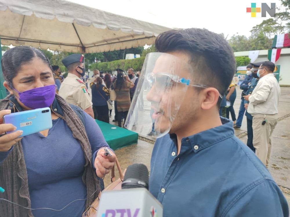 Brigadas Correcaminos realizan recorridos para llevar vacunas a los adultos mayores en Nanchital, Soteapan e Hidalgotitlán