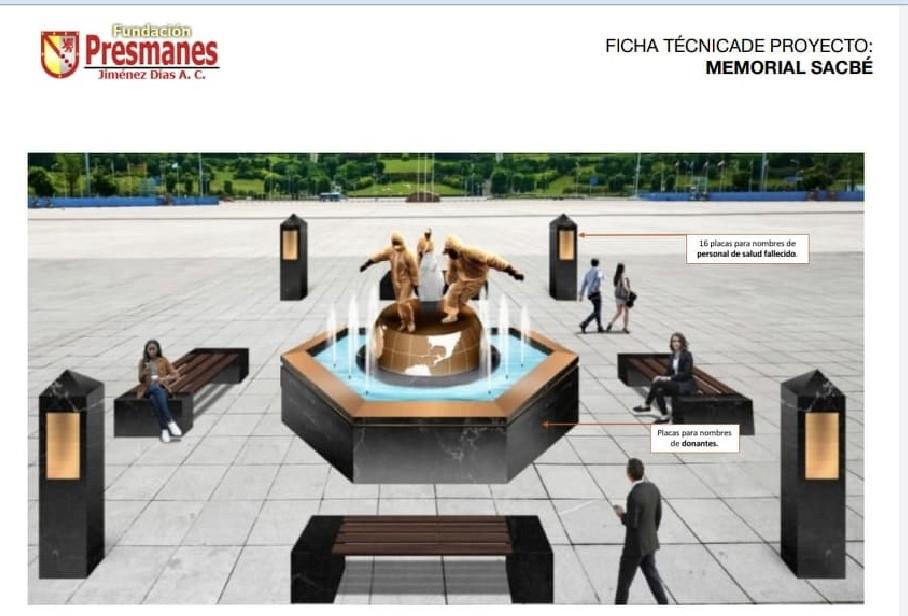 Proyectan monumento en honor al personal de Salud fallecido a causa de COVID-19, en Boca del Río