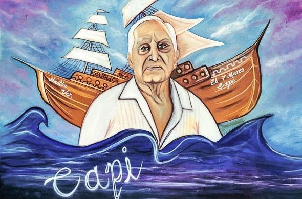 A través de murales, se inició el rescate de la identidad de Nautla: Eric Cisneros