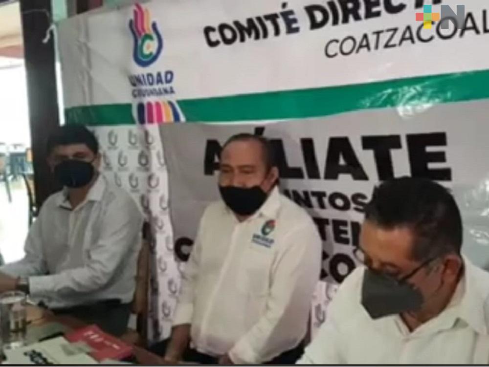 Partido Político Unidad Ciudadana presentó su campaña de afiliaciones en Coatzacoalcos