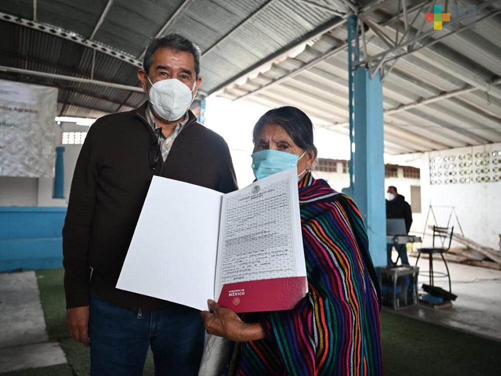 Registro Agrario Nacional da certidumbre a ejidatarios con intención de legalizar tierras en Tantoyuca