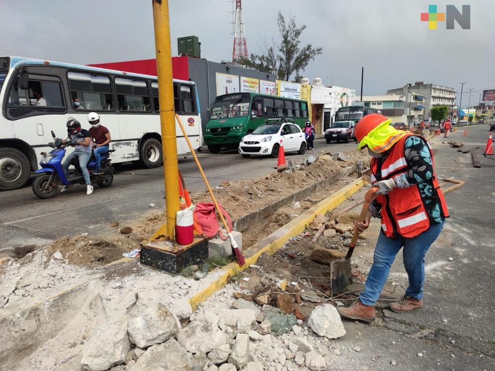 Rehabilitarán avenida Zaragoza, uno de los accesos principales de Coatzacoalcos