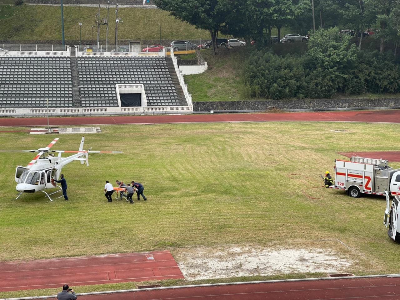 Senderista cayó a barranco de 100 metros; fue rescatado y auxiliado vía aérea